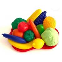 Лидер ПК 11-177166 Игровой набор Фрукты и овощи №5 (15 предметов) (пластик) (в сетке) (от 3 лет) МТ3785