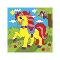 Рыжий кот 11-178476 Картина по номерам Красивая лошадка (15*15см, акриловые краски, кисть) Х-9366, (Рыжий кот)