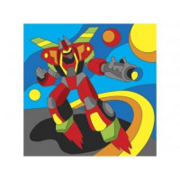 Рыжий кот 11-178485 Картина по номерам Мир роботов (15*15см, акриловые краски, кисть) Х-9382, (Рыжий кот)