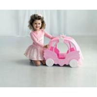 Лидер ПК 11-178896 Мебель для кукол. Кроватка (розовое облако, с постельным бельем, матрасиком и подушками, 45*57*6см) (дерево) (в коробке) 71320, ShiningCrown