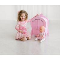 Лидер ПК 11-178897 Мебель для кукол. Шкаф (розовое облако, 42*57*10см) (дерево) (в коробке) 71020, ShiningCrown