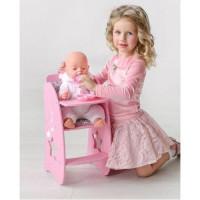 Лидер ПК 11-178905 Мебель для кукол. Стульчик для кормления (розовый, с мягким сиденьем, 29*53*7см) (дерево) (в коробке) 74319, DiamondStar