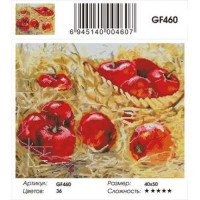 Zhejiang Yiwu Jiangbei 11-179003 Алмазная мозаика Ароматные яблоки (40*50см, стразы квадратные, контейнер, основа-холст с подрамником) GF460