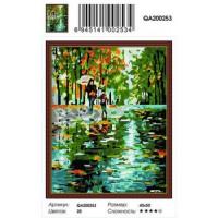 Zhejiang Yiwu Jiangbei 11-179079 Алмазная мозаика Под дождем (40*50см, стразы круглые, контейнер, основа-холст с подрамником) QA200253