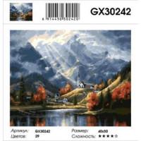 YIWU XINSHIXIAN ARTS AND CRAFTS CO.,LTD 11-179104 Картина по номерам Горный пейзаж (40*50см, холст на подрамнике, кисти, акриловые краски) GX30242