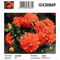 YIWU XINSHIXIAN ARTS AND CRAFTS CO.,LTD 11-179112 Картина по номерам Георгины (40*50см, холст на подрамнике, кисти, акриловые краски) GX30869