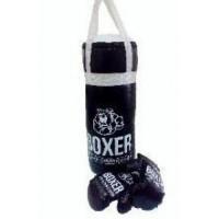 Лидер ПК 11-179277 Боксерский набор №3А (груша 50см, перчатки) (экокожа, текстиль) (в сетке) 98818
