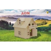 Рыжий кот 11-181288 Модель сборная Дом (2 листа) (дерево) (от 6 лет) СМ-1007-А4,