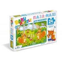 """ORIGAMI 11-182063 Пазл Baby Puzzle 24 дет. Белочки 05775, (ООО """"Оригами"""")"""