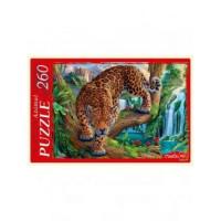 Рыжий кот 11-182496 Пазлы 260 дет. Леопард и водопад П260-1772, (Рыжий кот)