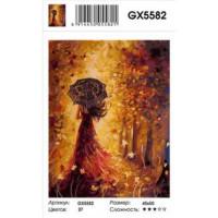 YIWU XINSHIXIAN ARTS AND CRAFTS CO.,LTD 11-183543 Картина по номерам Девушка-осень (40*50см, холст на подрамнике, кисти, акриловые краски) GX5582