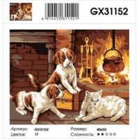 YIWU XINSHIXIAN ARTS AND CRAFTS CO.,LTD 11-183567 Картина по номерам У камина (40*50см, холст на подрамнике, кисти, акриловые краски) GX31152