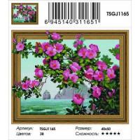 Zhejiang Yiwu Jiangbei 11-183648 Алмазная мозаика3D Цветение шиповника (40*50см, стразы круглые, контейнер, основа-холст с подрамником) TSGJ1165