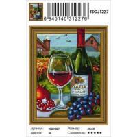 Zhejiang Yiwu Jiangbei 11-183652 Алмазная мозаика3D Натюрморт с вином (40*50см, стразы круглые, контейнер, основа-холст с подрамником) TSGJ1227