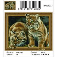 Zhejiang Yiwu Jiangbei 11-183653 Алмазная мозаика3D Дикие кошки (40*50см, стразы круглые, контейнер, основа-холст с подрамником) TSGJ1237