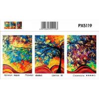 YIWU XINSHIXIAN ARTS AND CRAFTS CO.,LTD 11-183683 Картина по номерам модульная Радужное дерево (3 картины, холст на подрамнике, кисти, акриловые краски) PX5119