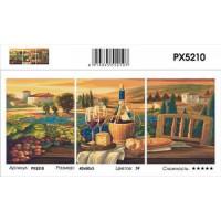 YIWU XINSHIXIAN ARTS AND CRAFTS CO.,LTD 11-183686 Картина по номерам модульная Романтический ужин (3 картины, холст на подрамнике, кисти, акриловые краски) PX5210