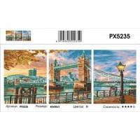 YIWU XINSHIXIAN ARTS AND CRAFTS CO.,LTD 11-183690 Картина по номерам модульная Тауэрский мост (3 картины, холст на подрамнике, кисти, акриловые краски) PX5235
