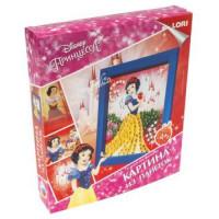 """LORI 11-184657 Картина из пайеток Disney Принцесса. Белоснежка (комплект материалов для изготовления) (в коробке) (от 4 лет) Апд012, (ООО """"7-Я"""")"""