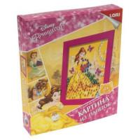 """LORI 11-184658 Картина из пайеток Disney Принцесса. Белль (комплект материалов для изготовления) (в коробке) (от 4 лет) Апд013, (ООО """"7-Я"""")"""