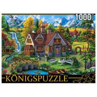 Рыжий кот 11-185142 ПазлыKONIGSPUZZLE 1000 дет. Волшебный домик в горах ФК1000-4472, (Рыжий кот)