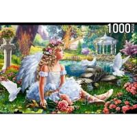 Рыжий кот 11-189476 ПазлыKONIGSPUZZLE 1000 дет. Ангелочек в саду ФK1000-7040, (Рыжий кот)