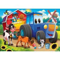 Рыжий кот 11-190006 Картина по номерам  Трактор и зверята (17*22см, акриловые краски, кисти) ХК-8120, (Рыжий кот)