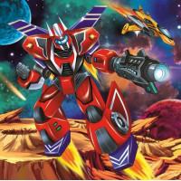 Рыжий кот 11-190009 Картина по номерам  Робот в космосе (20*20см, акриловые краски, кисти) ХК-8774, (Рыжий кот)