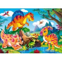 Рыжий кот 11-192545 Картина по номерам Резвящиеся у реки динозаврики (22*30см, акриловые краски, кисти) ХК-8722