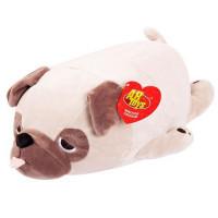Прочие 11-192687 Мягкая Игрушка Super soft. Собачка Мопс (27см, светло-коричневый) M2024, (Junfa Toys Ltd)