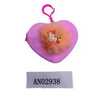 Рыжий кот 11-196259 Кошелек детский. Единорог-1 (10,5см, сердце, молния) (ПВХ) AN02938