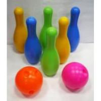 Прочие 11-68902 Набор для игры в боулинг (6 кеглей, 2 мяча) (в сетке) 106351-408, (Норд-Пласт)