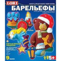 """LORI 11-69666 Барельеф Елочные игрушки. Рождество (комплект материалов для изготовления) (в коробке) (от 5 лет) Н063, (ООО """"7-Я"""")"""