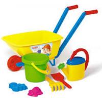 Stellar 11-91050 Игровой детский Песочный набор №113 (тачка детская, ведро, лейка, совок, грабли, формочки) (пластик) 01813