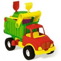 Stellar 11-91082 Игровой детский Песочный набор №143 (грузовик самосвал с песочным набором №101) (в сетке) (от 3 лет) 01843