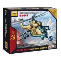 ЗВЕЗДА 11-96416 Сборная Модель 1:144 Советский ударный вертолет Ми-24В 7403