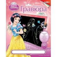 """LORI 11-97030 Гравюра Голографик Disney Принцессы (основа с контуром рисунка, штихель, инструкция) (от 6 лет) Грд007, (ООО """"7-Я"""")"""