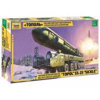 ЗВЕЗДА 11-99184 Сборная модель 1:72 Российский ракетный комплекс стратегического назначения Тополь 5003, (Звезда)