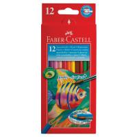"""FABER-CASTELL 114413 Карандаши цветные акварельные FABER-CASTELL """"Colour Pencils"""", 12 цветов + кисть, 114413"""
