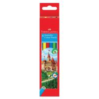 FABER-CASTELL 120106 Карандаши цветные FABER-CASTELL, 6 цветов, картонная упаковка с подвесом, 120106