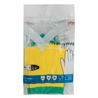 VILEDA 120269 Перчатки хозяйственные латексные VILEDA с х/б напылением, особо прочные (неопрен), размер L (большой), 120269