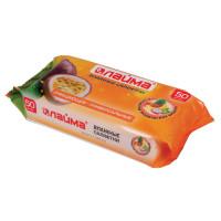 ЛАЙМА 128076 Салфетки влажные, 50 шт., ЛАЙМА, универсальные очищающие, для всей семьи, тропические фрукты, 128076
