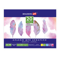 "Brauberg 128965 Альбом для акварели А4 (195х270 мм), ЗЕРНО, белая бумага, 20 л., 180 г/м2, склейка, BRAUBERG ART ""CLASSIC"", 128965"