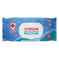ЛАЙМА 129997 Салфетки влажные, 72 шт., ЛАЙМА Antibacterial, антибактериальные, клапан крышка, 129997
