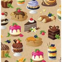 Прочие 13-845749 Бумага упаковочная рулон 70*100см Твой десерт (1 лист) УБ1609, (МИЛЕНД)
