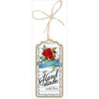 """Прочие 13-859607 2901245 Бирка для подарка """"Hand made with love"""" (мини, подвеска, вырубка, на шнурке), (Праздник)"""