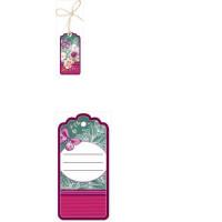 """Прочие 13-864057 2901294 Бирка для подарка """"Цветы"""" (мини, подвеска, вырубка, на шнурке), (Праздник)"""