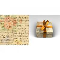Прочие 13-873786 Бумага упаковочная рулон 70*100см OPTIMA. Музыка (1 лист) УБ3652, (МИЛЕНД)