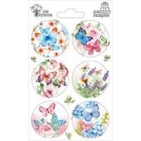 Прочие 13-879550 88660 Наклейки для букетов и подарков (Бабочки), (ОткрытаяПланета)