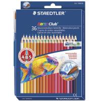 """STAEDTLER 144 10ND3603 Карандаши цветные акварельные STAEDTLER (Германия) """"Noris club"""", 36 цветов + кисть, европодвес, 144 10ND3603"""